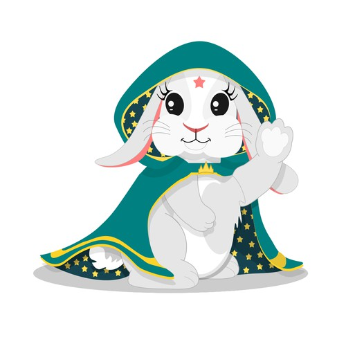 Magical Bunny Character Illustration