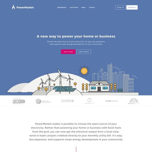 Energey Marketplace Website