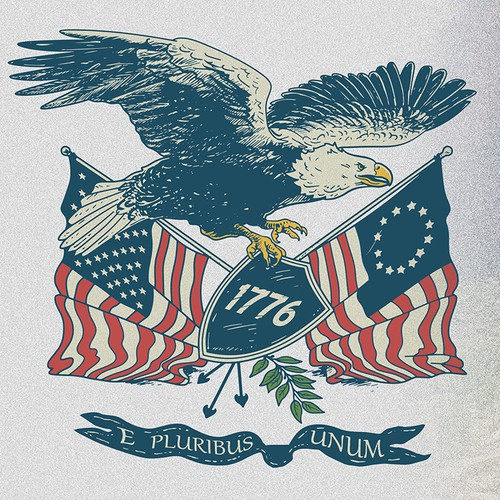 retro patriotic eagle