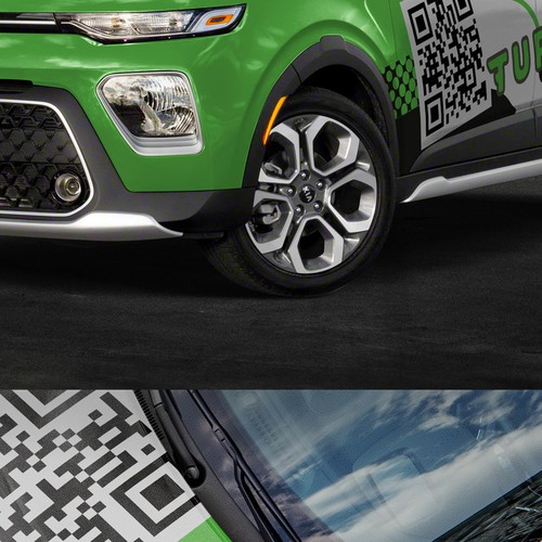 Kia Soul Car Wrap Design for Hot Fintech Startup