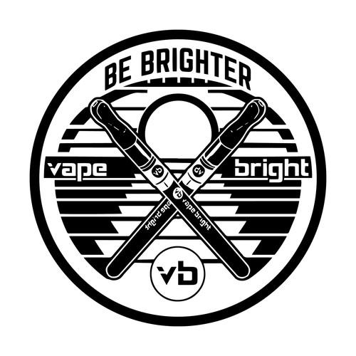 Sticker design for Vape company