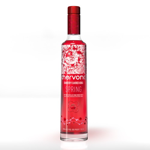 3D Rendering of flavored vodka