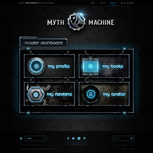 Ancient Meets Modern for Myth Machine Website Design