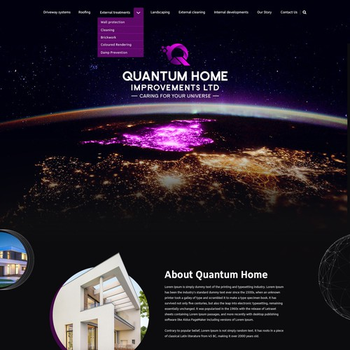 Quantum Home Improvements Ltd - Website Design