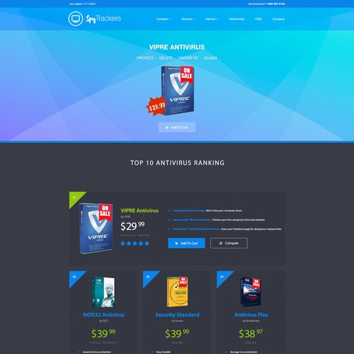 AntiVirus Web Design