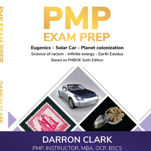 Book cover for PMP exam prep