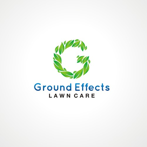 Create a crisp distinguished lawn care logo for Ground Effects Lawn Care