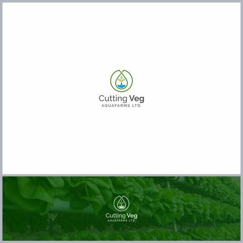 Logo Concept for Cutting Veg Aquafarms