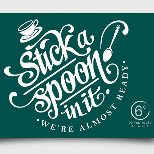 Coffee house menu tasting note card invite