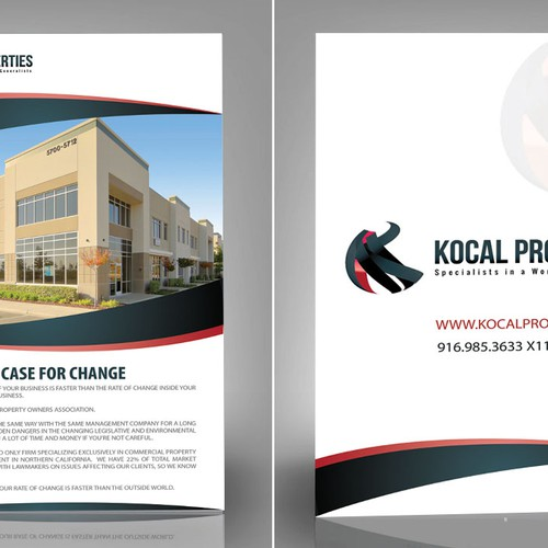 """Sleek and professional 6""""x 9"""" flyer for property management company"""