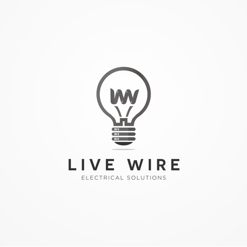 Create a slick/bold,  black and white logo for a modern day electrician