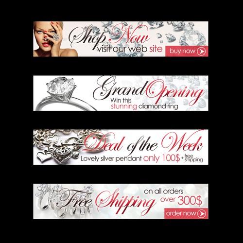 Banner ad design for jewlery store