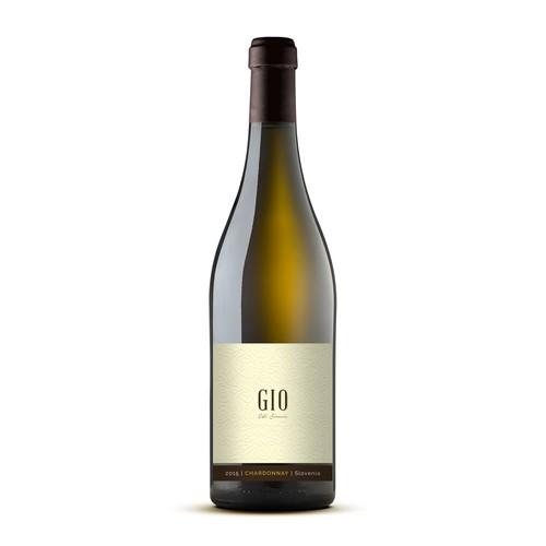 Unique Font Driven Elegant Wine Label
