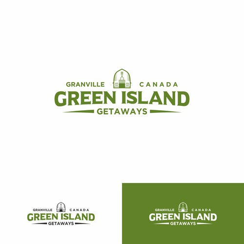 Classic logo for Green Island Getaways
