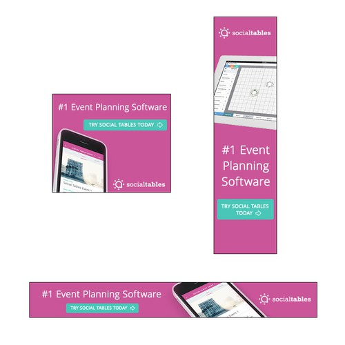 Banner ads for Event Planning Software
