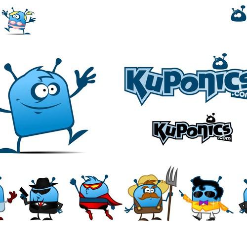 Kuponics' logo and mascot