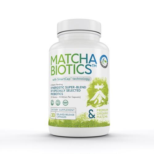 concept label for matcha supplement