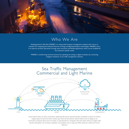 Maritime Website Design