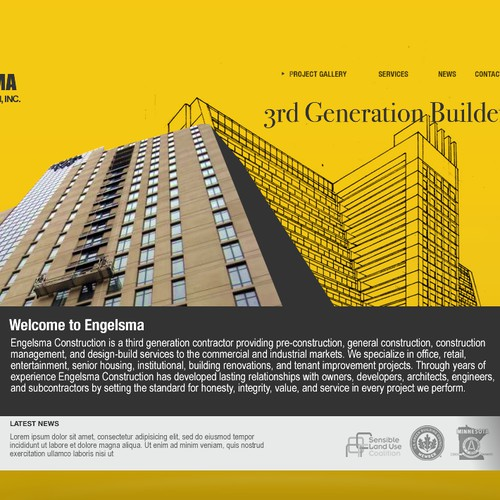 Web Design for Commercial Construction Company