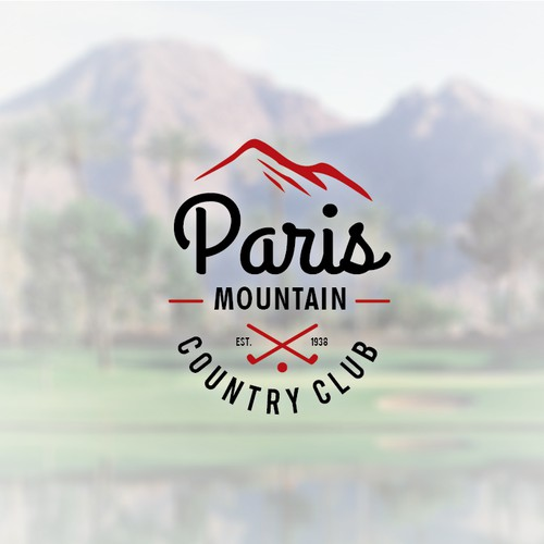 Refine an 80-yr old logo for Paris Mountain Country Club