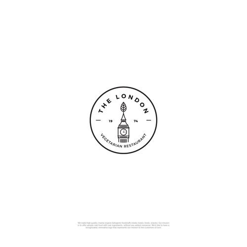 The London: Logo design