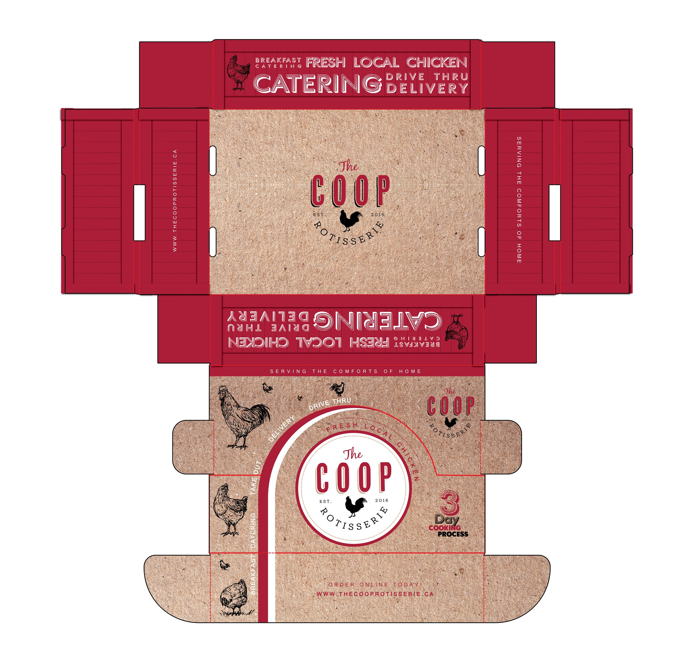 Modern Eco friendly Catering/Take out box