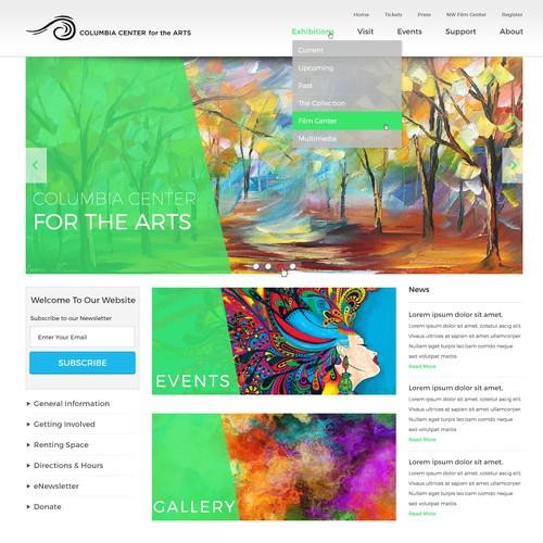 Clean design for an Art Center