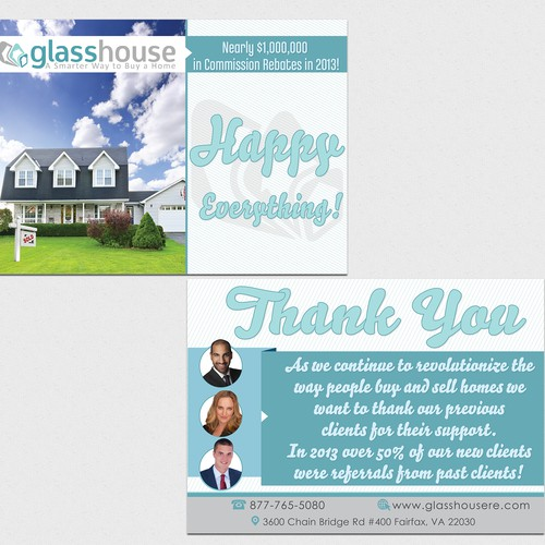 Create the next card or invitation for Glass House Real Estate Inc.