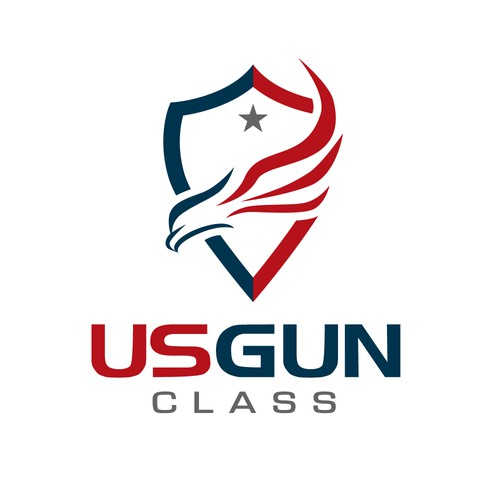 Bold Patriotic Gun Class logo