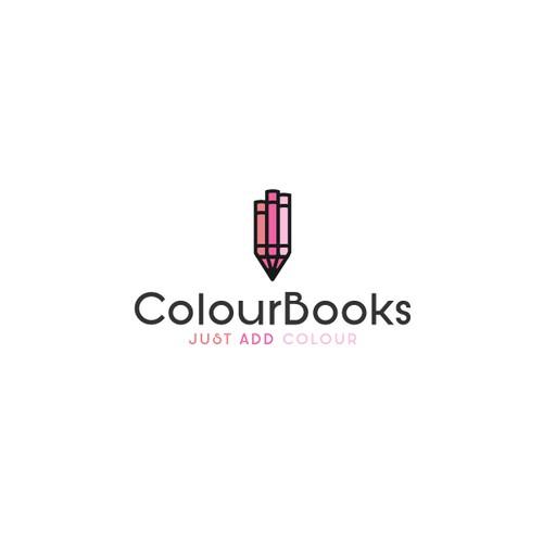 Pencil Crayon and 3 Books Design