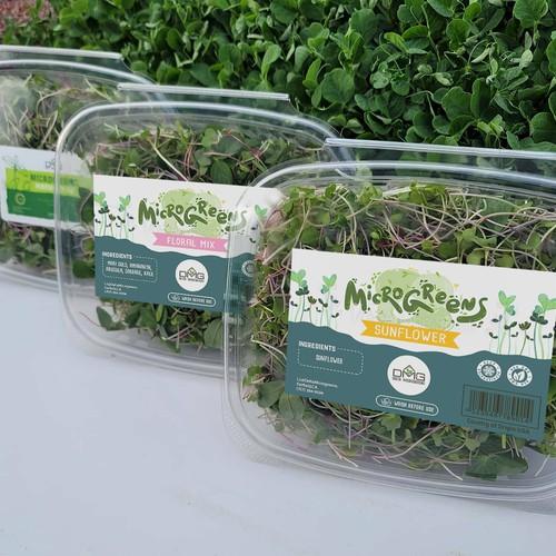 Micro greens label design
