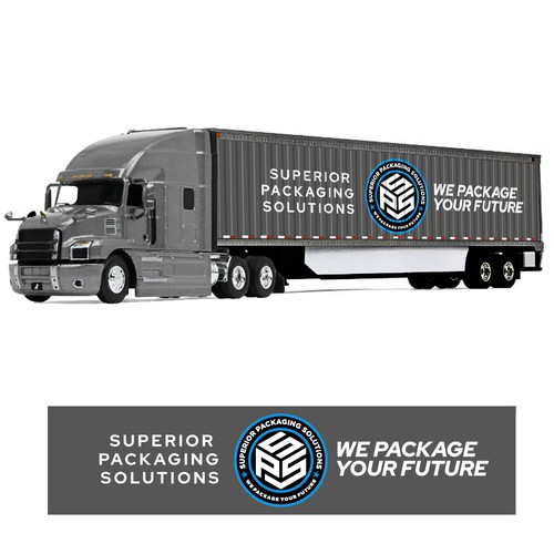 SPS We Package Your Future for truck side branding