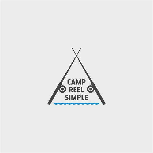 logo for a lake house/camp