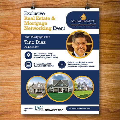Real Estate & Moertgage Networking Event Flyer