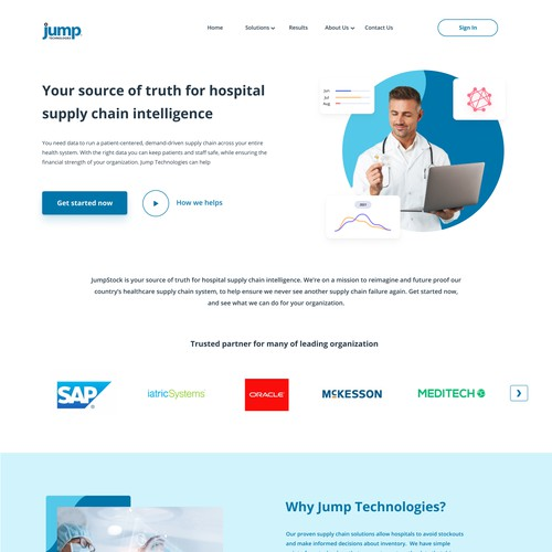 Landing Page for Jump Technologies