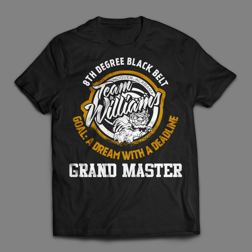 8th Degree Black Belt - Grand Master - T-shirt Contest