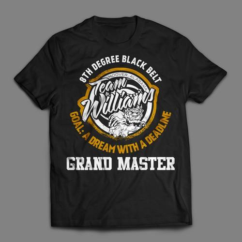 8th Degree Black Belt - Grand Master - T-shirt Contest