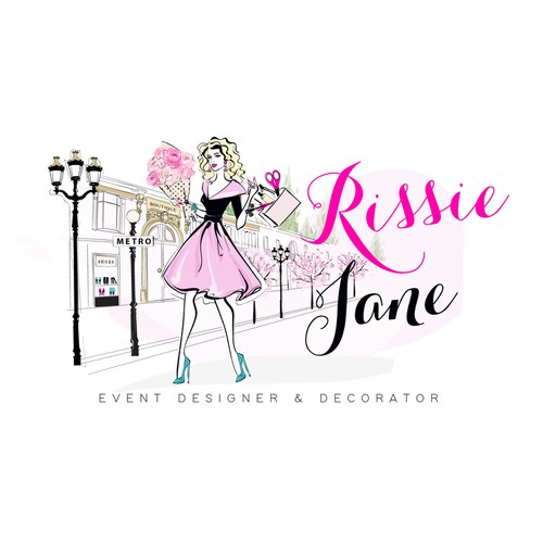 Elegant and portrait based logo for an Event designer & decorator