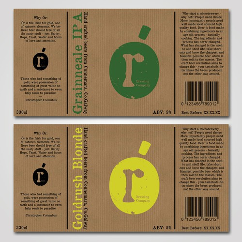 Help Ór Brewing Company with a new product label