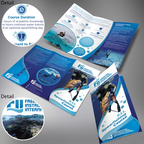 Brochure design for a contest F.I.I. Spearfishing Course