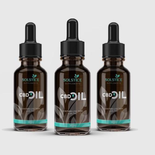 Solstice - CBD Oil Label