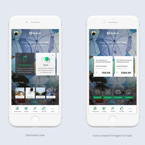 an exciting banking app design