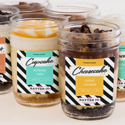 Label for cake jars