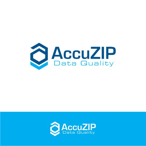 Create a logo that represents AccuZIP Data Quality Suite of Products which ensures address accuracy