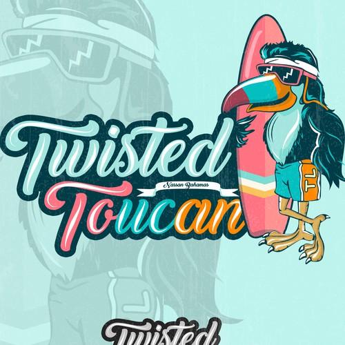 Retro Logo Toucan