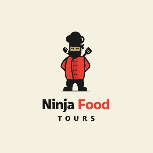 logo for ninja food tours