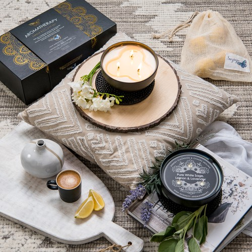 Aromatherapy Candle Bowl Gift Set