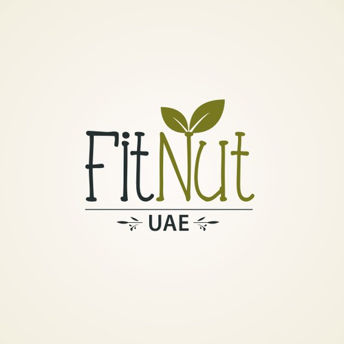 Design a relatable logo for FitNut UAE, a community focused Fitness and Nutrition Brand