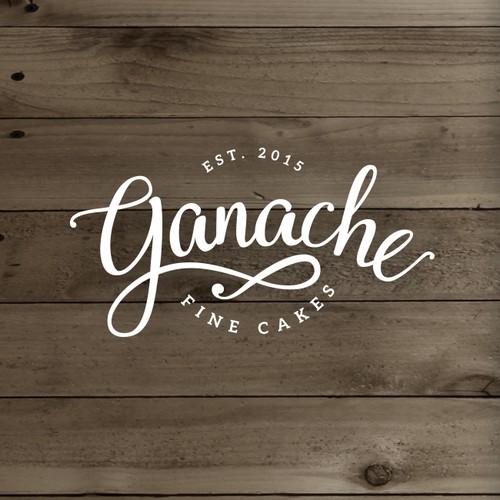 Ganache logo concept for fine cakes.