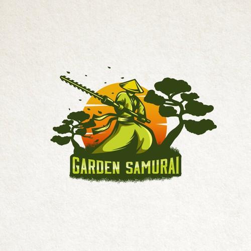 Logo concept for Garden Samurai